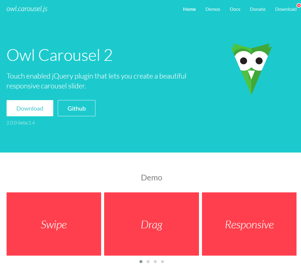 Home Owl Carousel 2.0.0 beta.2.4