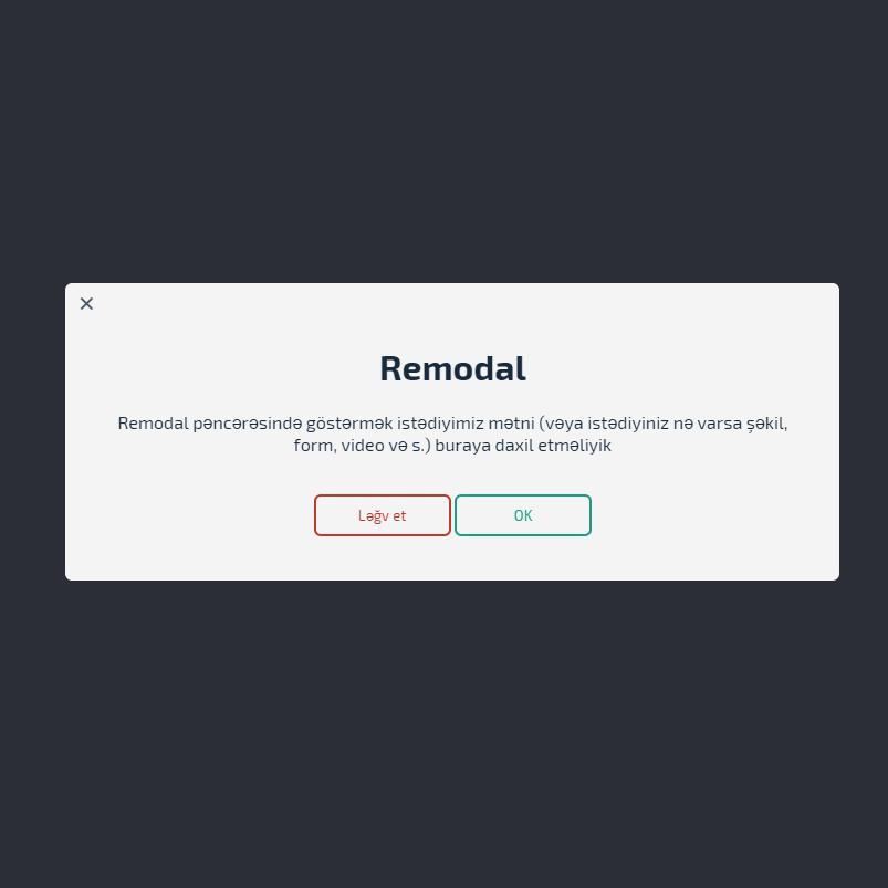 Remodal jQuery plugin – necə istifadə edilir?