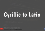 cyrillic to latin