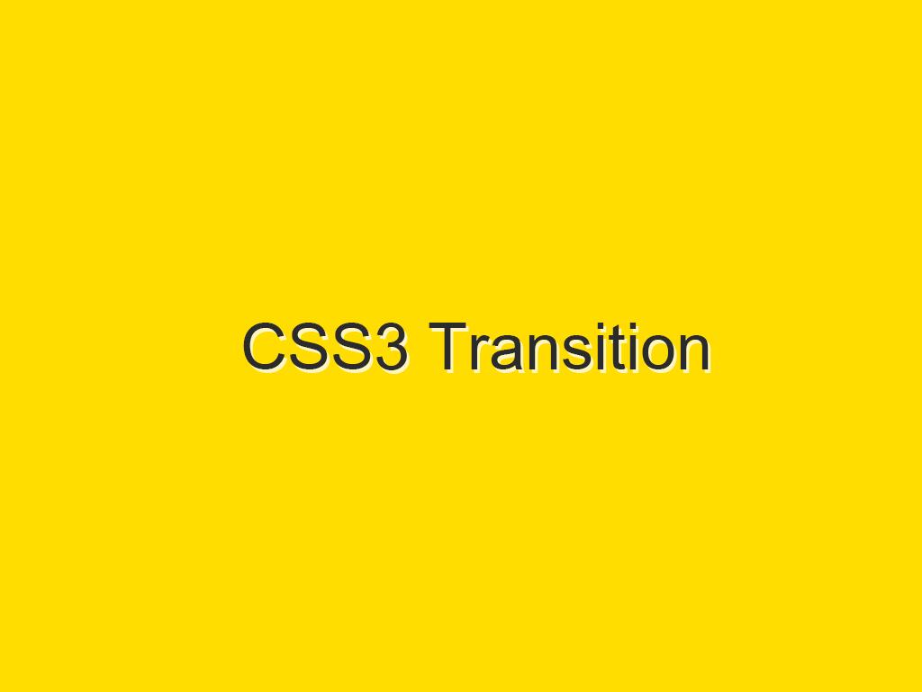 CSS3 ilə arxa plan rənginin hərəkətli keçidi